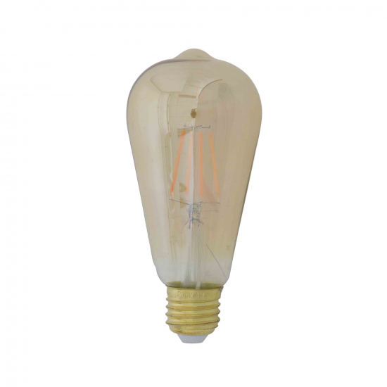 - LED eckig  LIGHT 4W bernstein E27 dimmbar