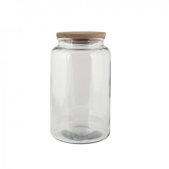 Glasbehälter mit Holzdeckel