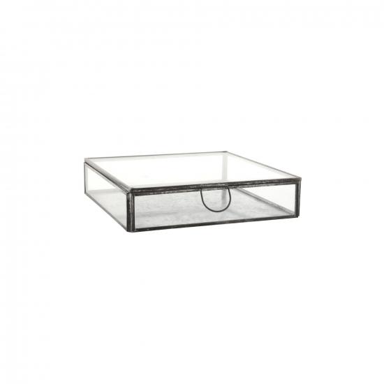 Ib Laursen  - Glasbox mit Deckel, B: 18 H: 4,5 L: 18