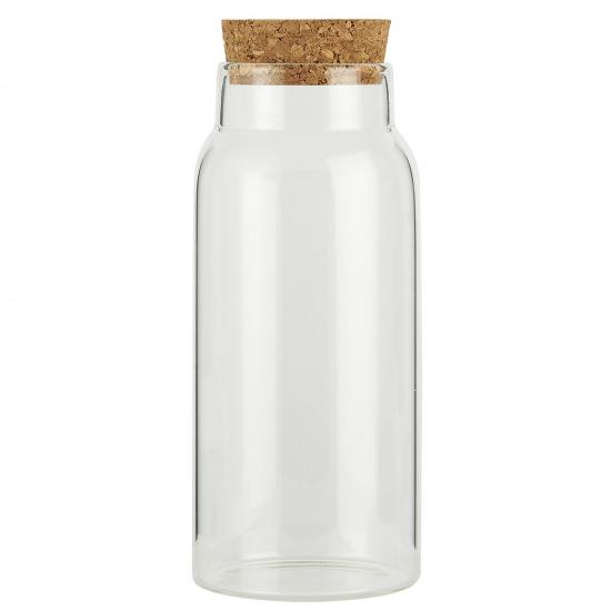 Glas mit Korkdeckel