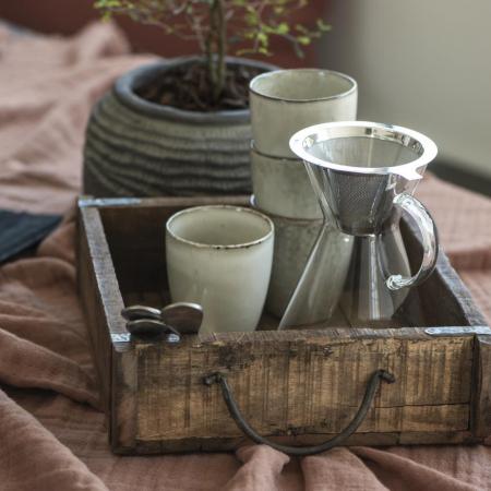 Altholz Kiste von IB Laursen als Tablett fuer Kaffeetassen