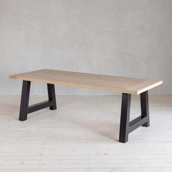 Tisch Eiche inkl. Gestell Stahl A