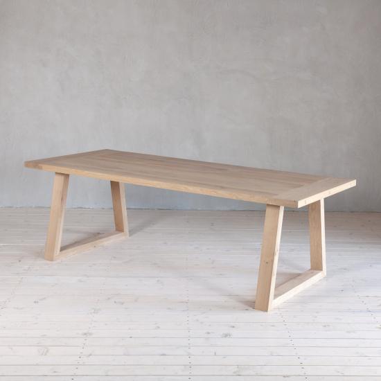 Wohnlust - Tisch Eiche inkl. Gestell Eiche Trapez Fine