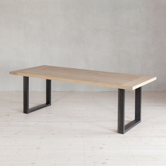 Wohnlust - Tisch Eiche inkl. Gestell Stahl U Fine