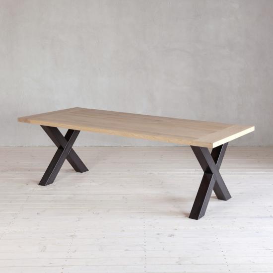 Wohnlust - Tisch Eiche inkl.  Gestell Stahl X