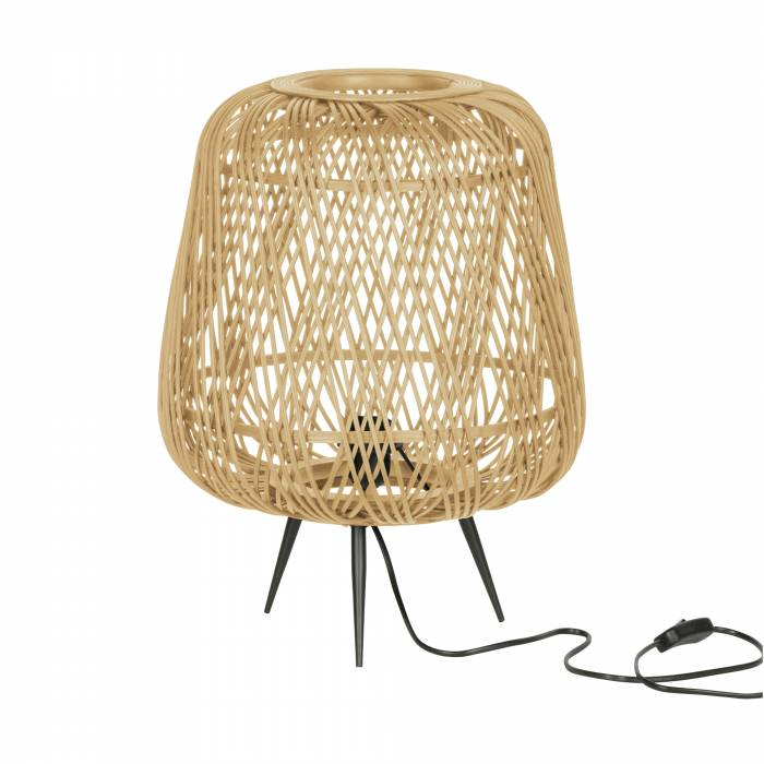 Wohnlust Tischlampe Bambus