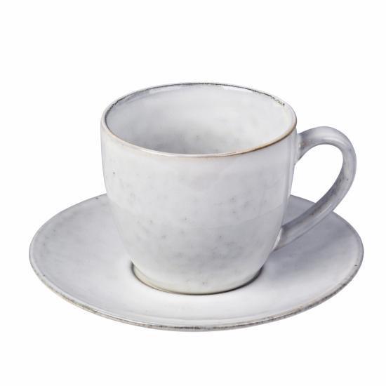 Tasse mit Unterteller NORDIC SAND